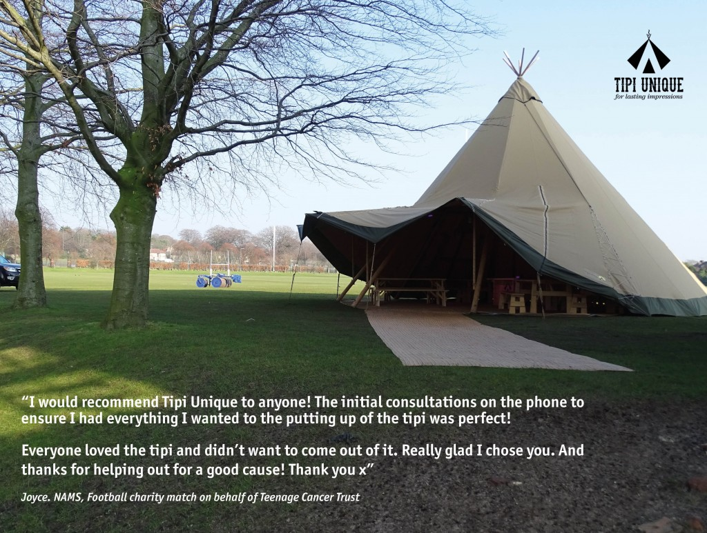 Tipi Unique received praise following NAMS charity football match