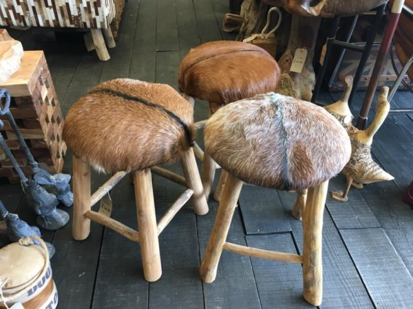 Our quirky little mushroom stools look perfect situated anywhere in the tipis