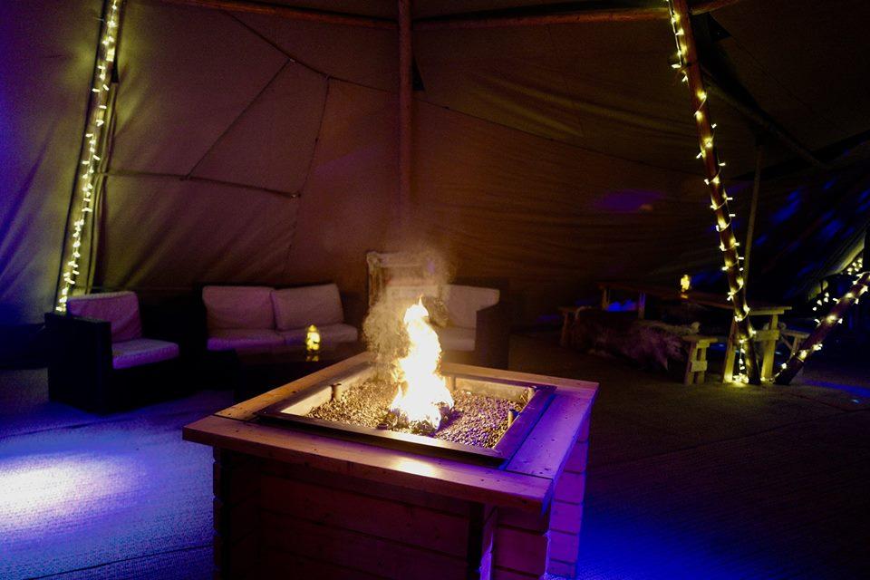 Campfire Inside Tipi
