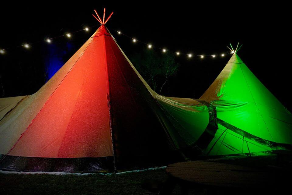 Glowing Tents