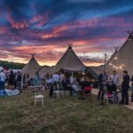 Tipi At Sunset