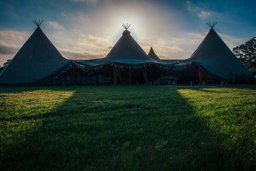 Tipi's at sundown
