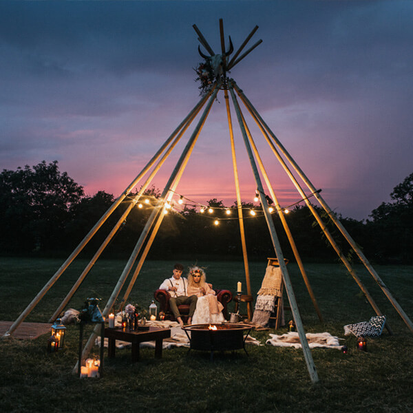 Tipi Unique Styled Shoot