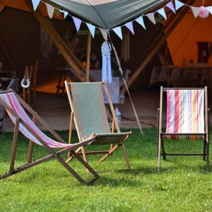 vintage deck chair hire