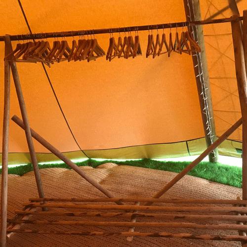 wooden coat rail