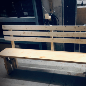 high back bench